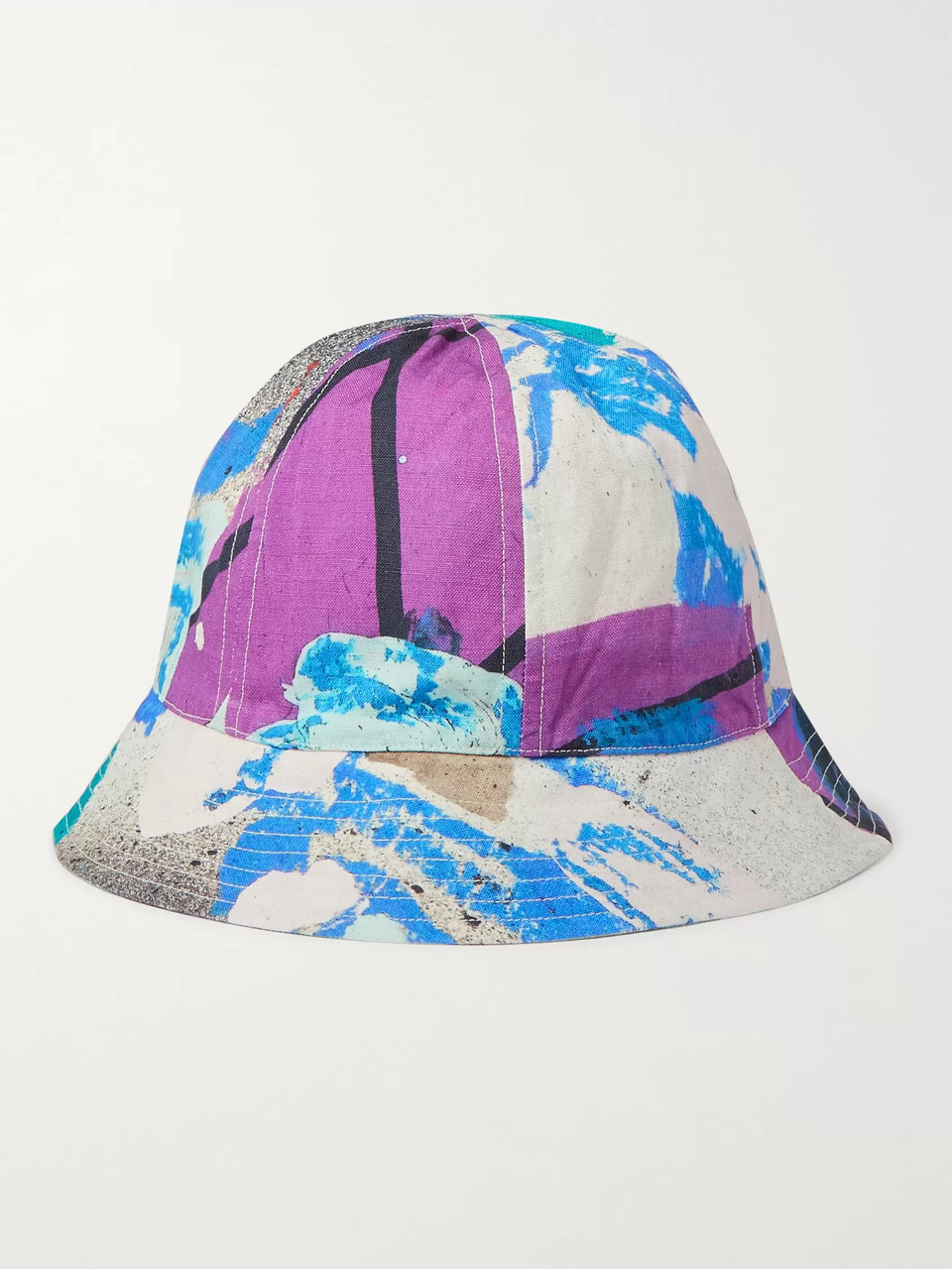 Folk + Alfie Kungu Printed Linen and Cotton-Blend Bucket Hat