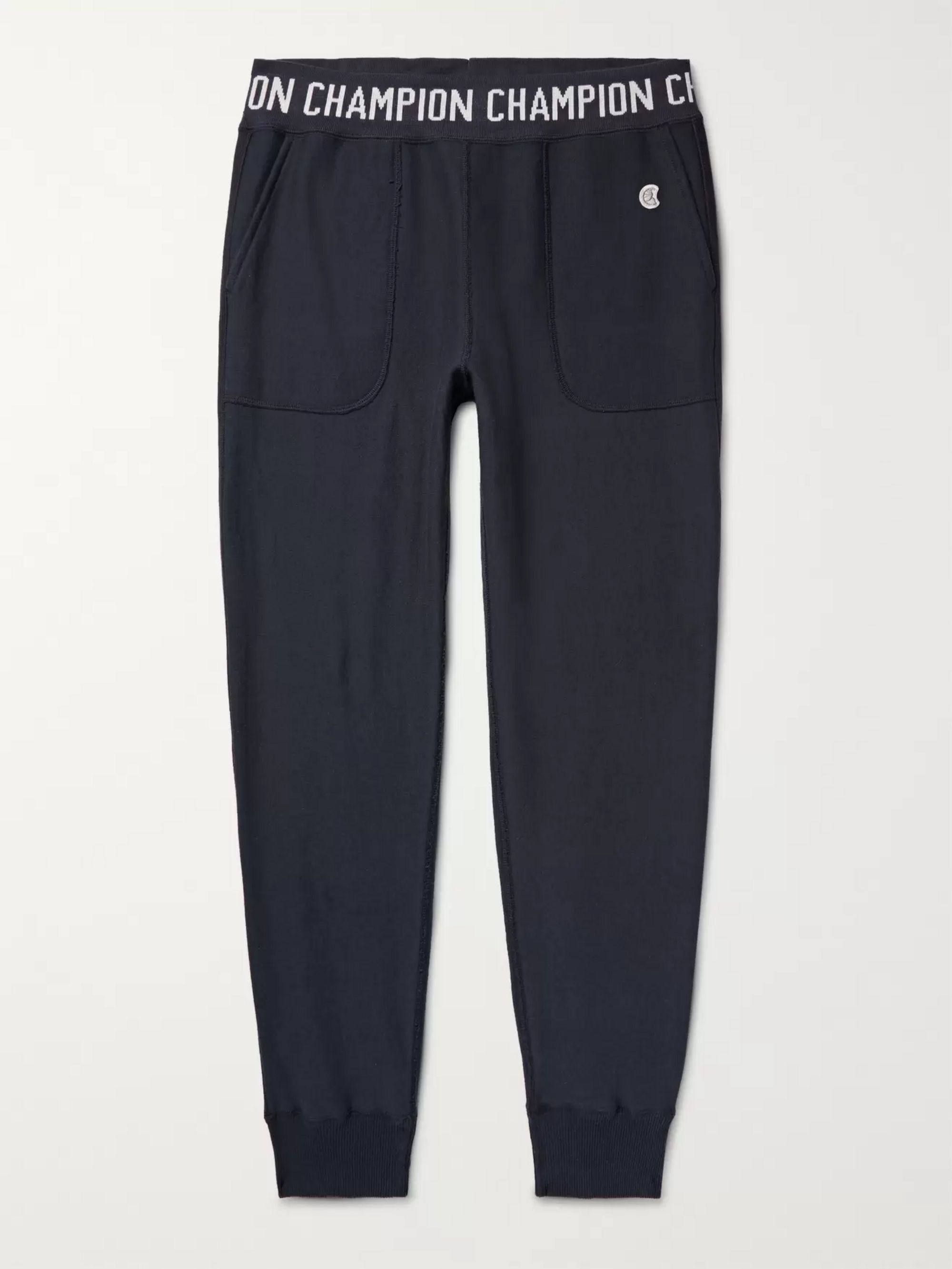 Todd Snyder + Champion Slim-Fit Tapered Logo-Jacquard Loopback Cotton-Jersey Sweatpants