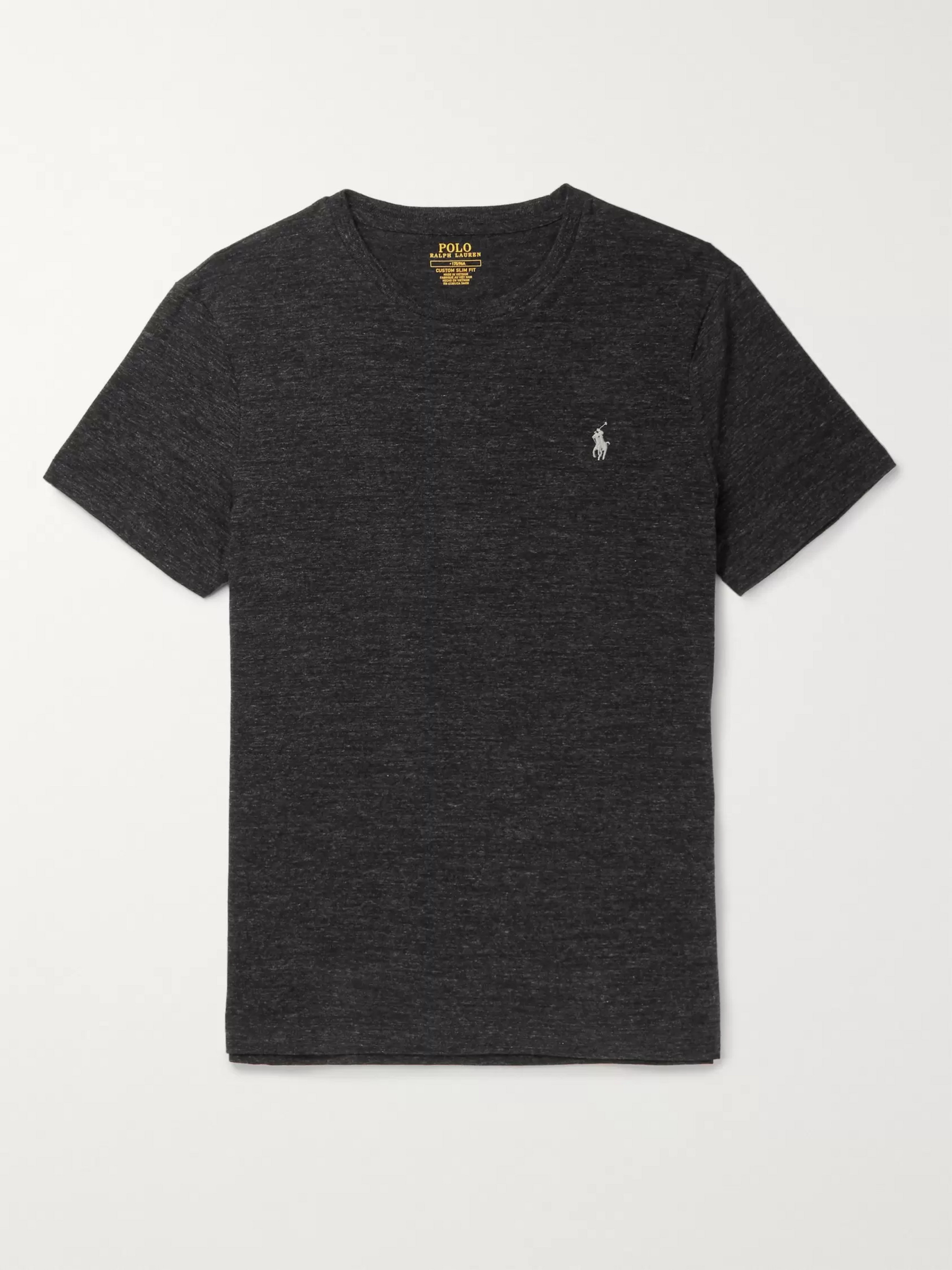 Polo Ralph Lauren Slim-Fit Mélange Cotton-Jersey T-Shirt