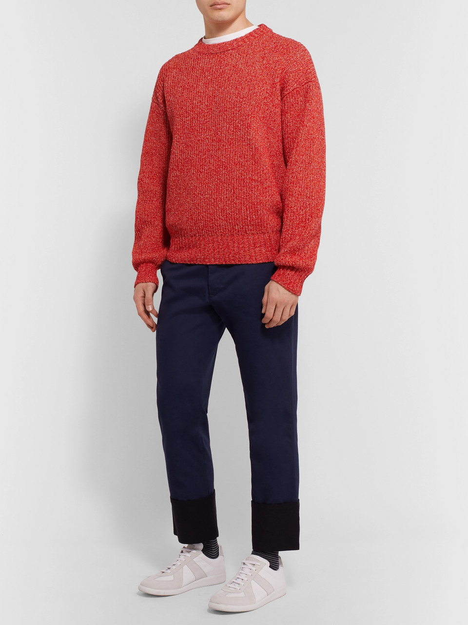 eye/LOEWE/nature Mélange Cotton-Blend Sweater