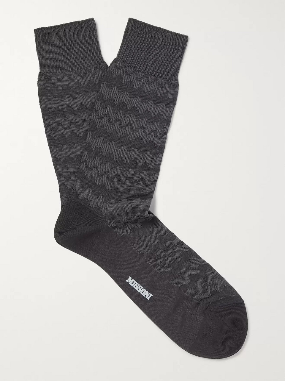 Missoni Crochet-Knit Cotton-Blend Socks