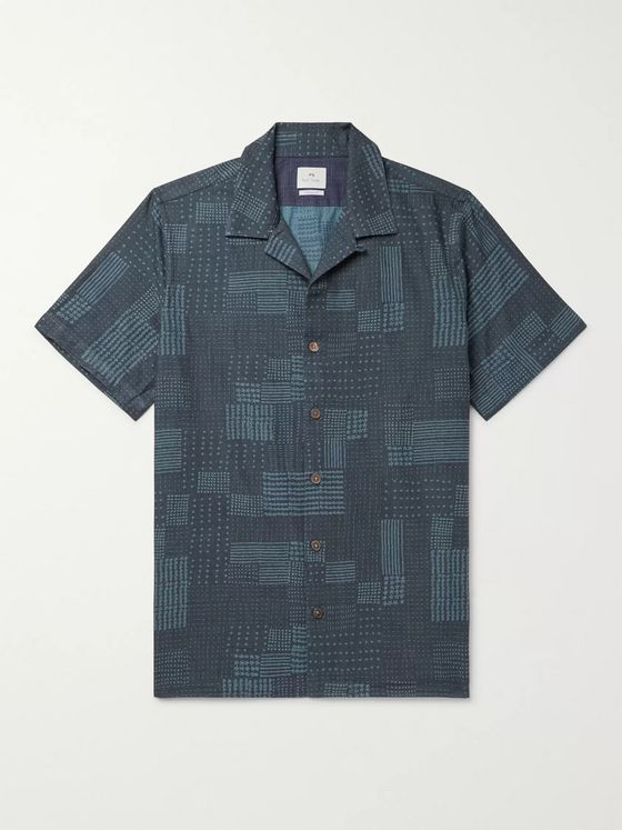 PS Paul Smith Camp-Collar Printed Cotton Shirt