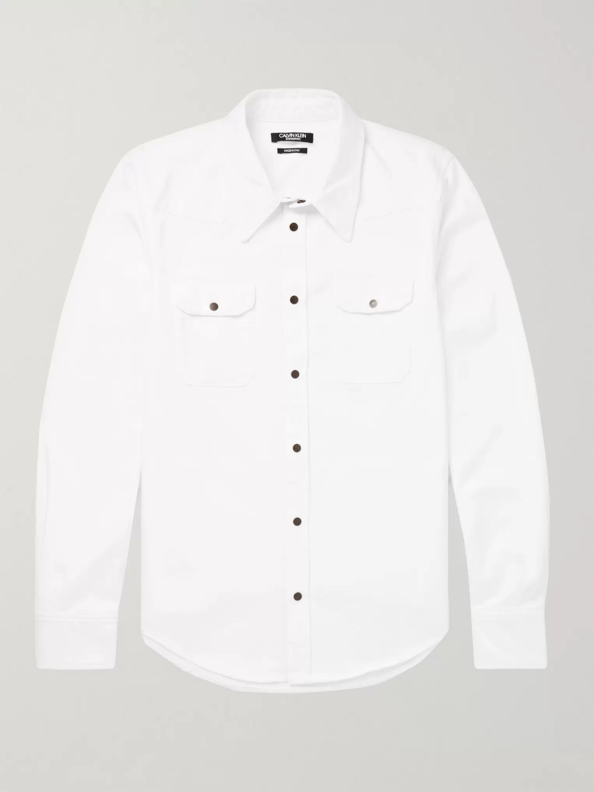 CALVIN KLEIN 205W39NYC Cotton-Twill Shirt