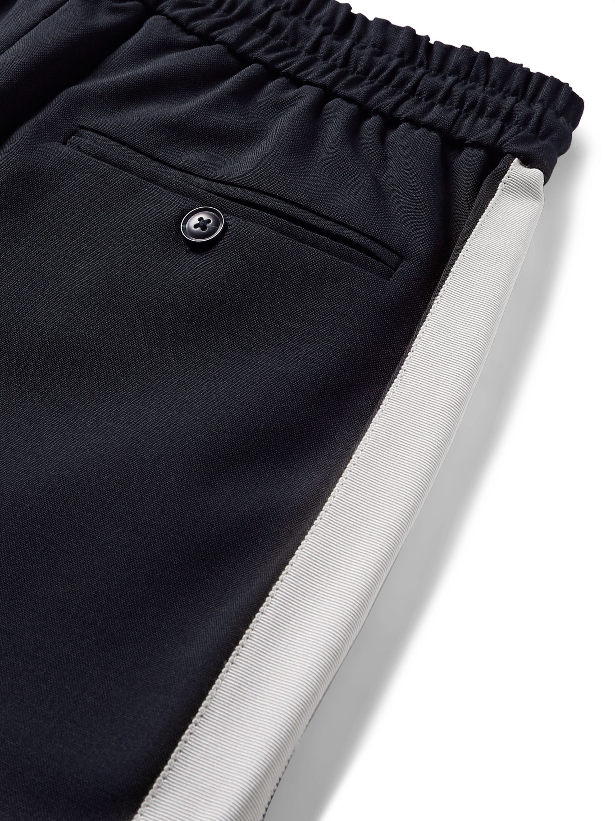 You As Syed Slim-Fit Tapered Webbing-Trimmed Woven Drawstring Trousers