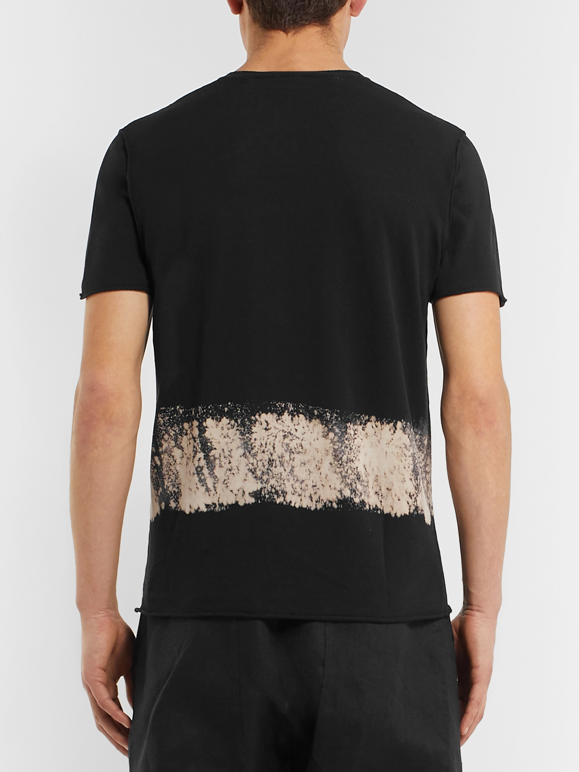 Isabel Benenato Dip-Dyed Knitted Cotton T-Shirt