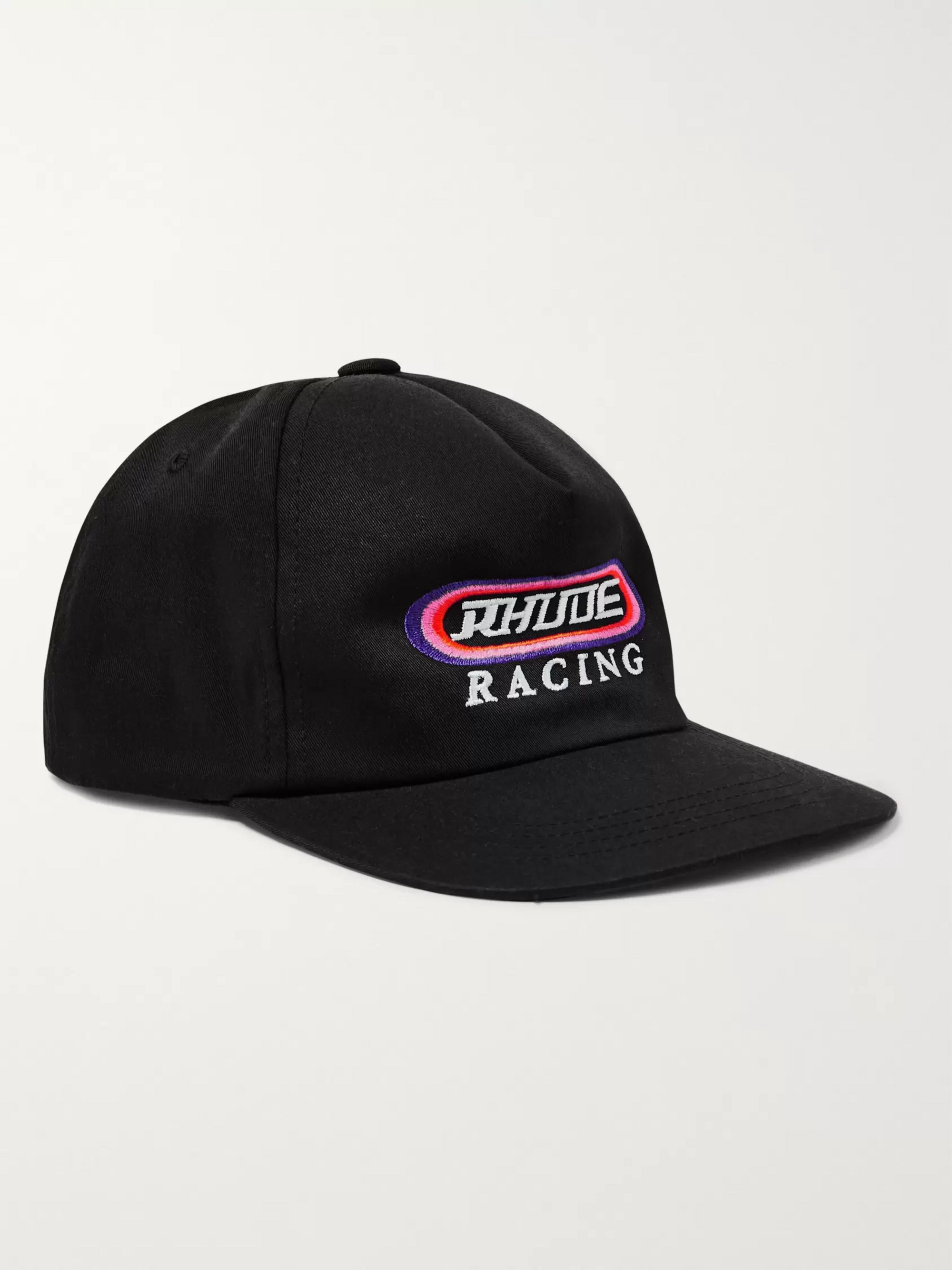 Rhude Logo-Embroidered Cotton-Twill Baseball Cap