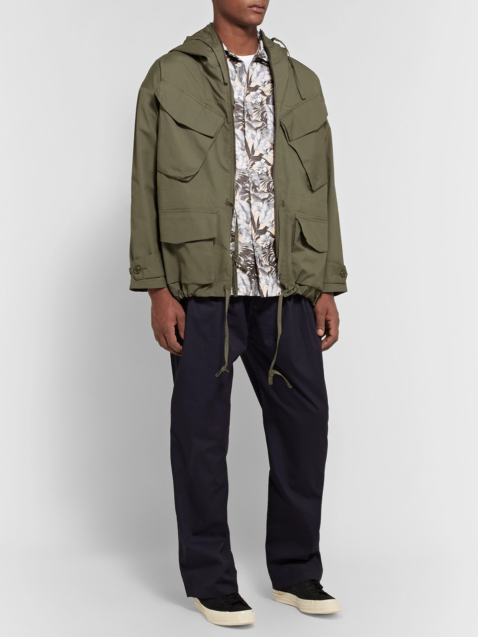 Monitaly Expedition Water-Resistant Cotton-Poplin Hooded Field Jacket