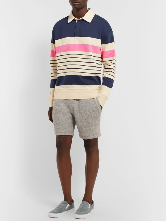 Mr P. Twill-Trimmed Striped Cotton-Jersey Rugby Shirt