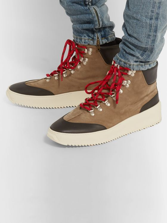 Fear of God Nubuck and Leather High-Top Sneakers