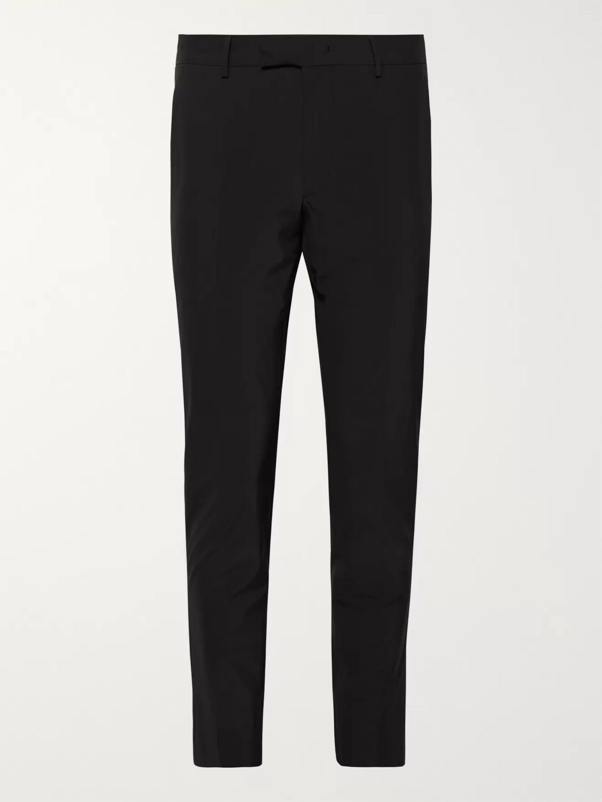 Prada Black Slim-Fit Stretch-Shell Trousers