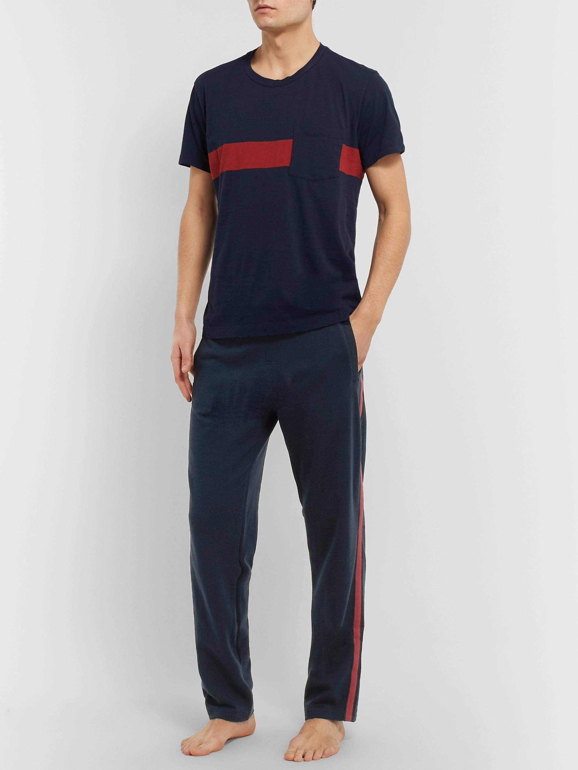Schiesser Oskar Slim-Fit Tapered Loopback Cotton-Jersey Sweatpants
