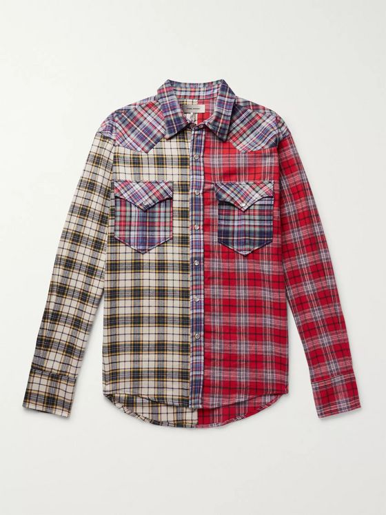 Isabel Marant Billy Checked Brushed Cotton-Flannel Western Shirt