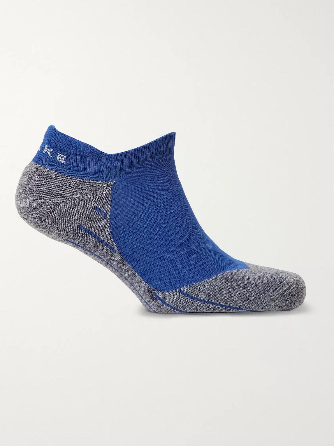 falke ergonomic sport system - ru4 no-show socks - men - blue