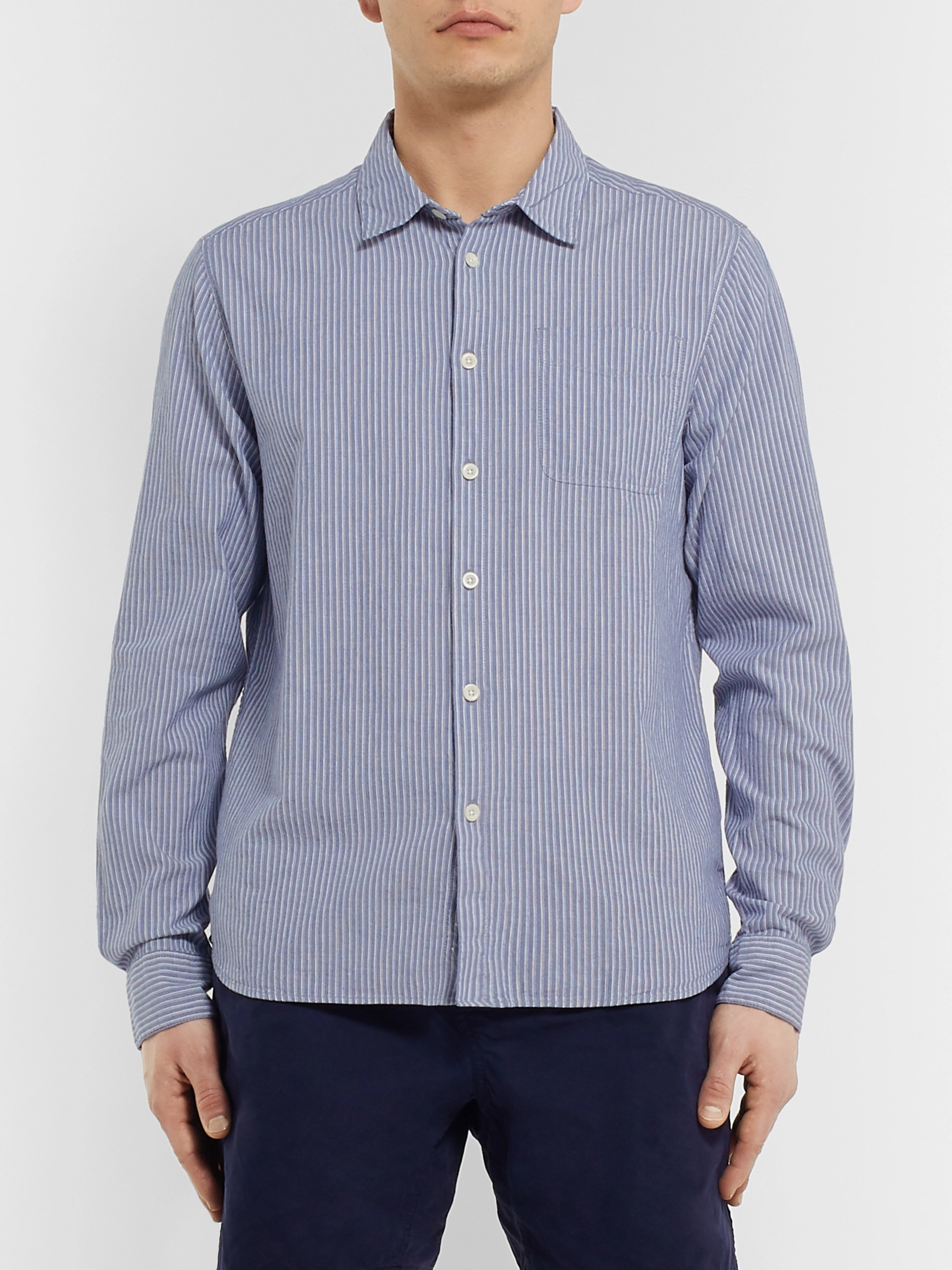 Albam Striped Cotton Oxford Shirt