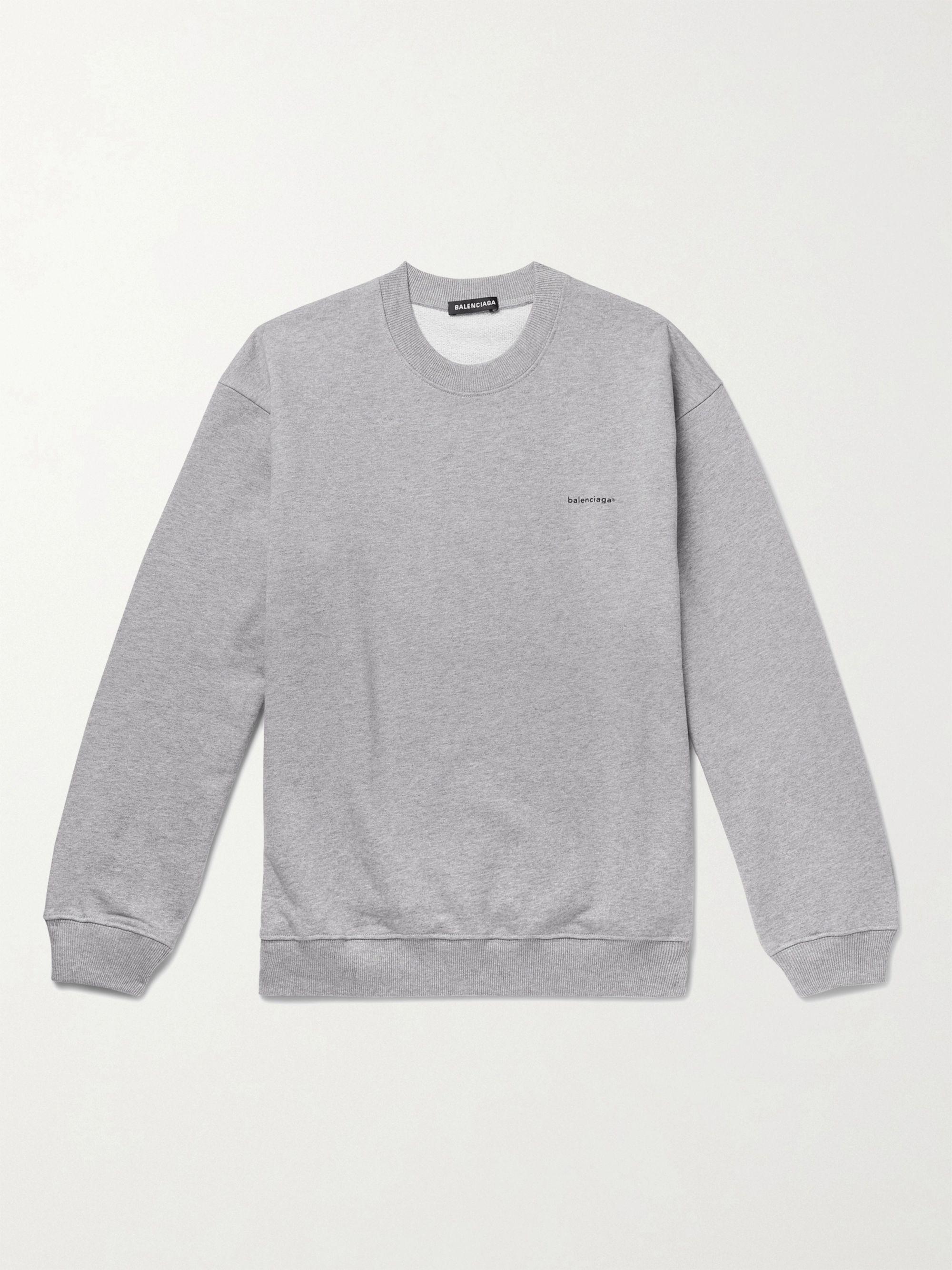 Gray Mélange Loopback Cotton-Jersey