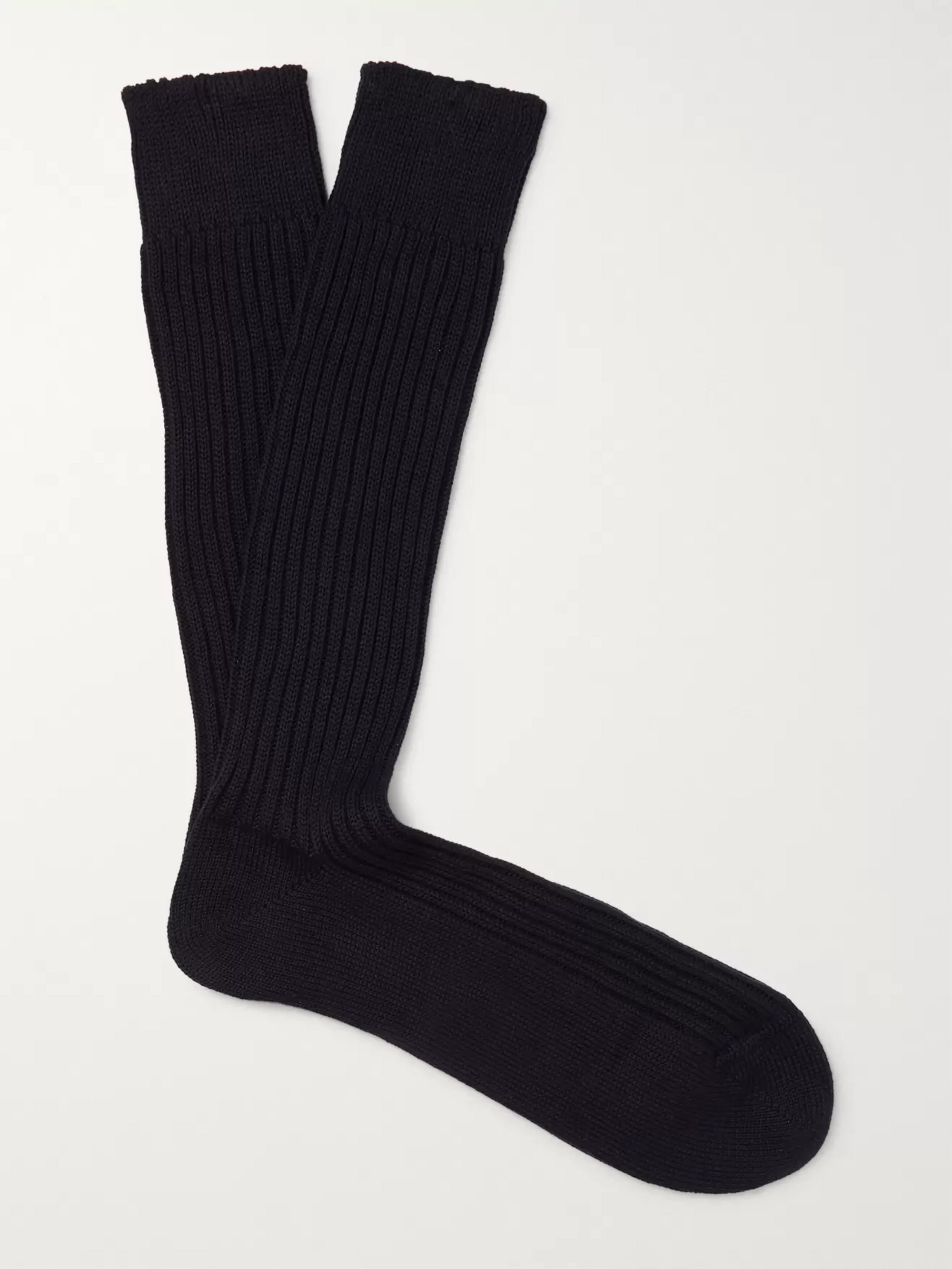 TOM FORD Ribbed Cotton Socks