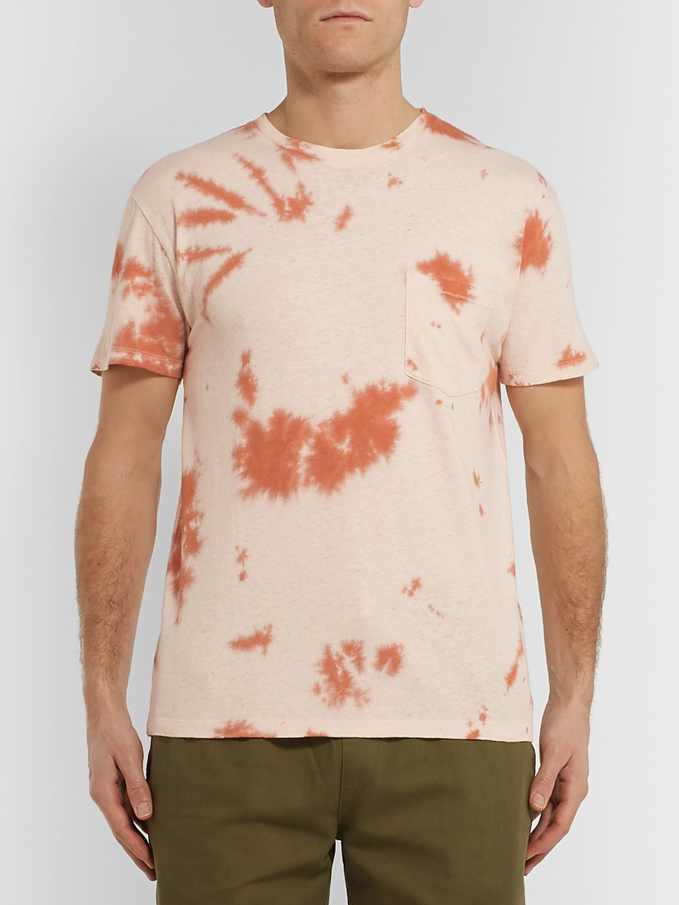 Mollusk Tie-Dyed Hemp and Cotton-Blend T-Shirt