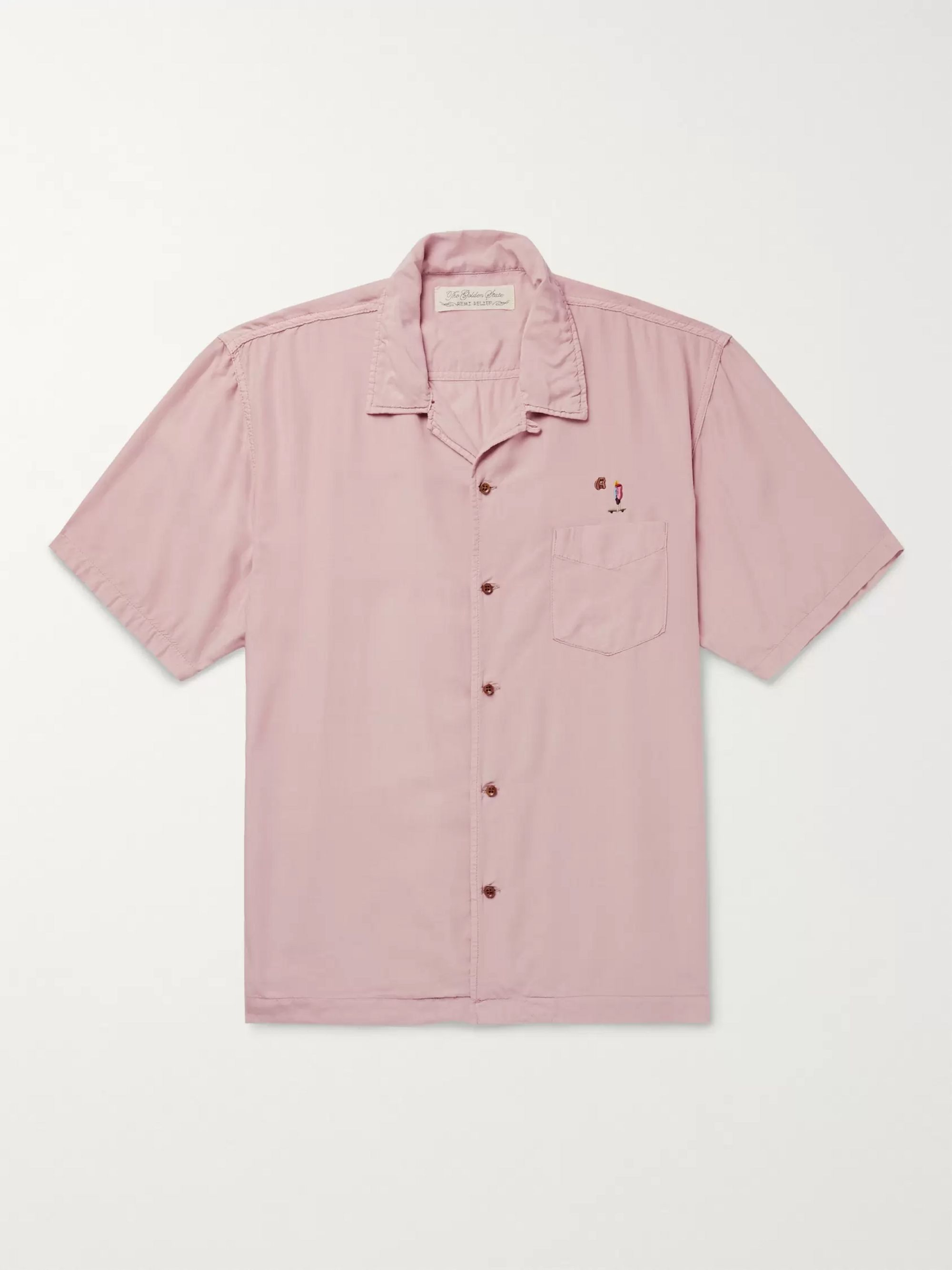 Remi Relief Camp-Collar Embroidered Woven Shirt