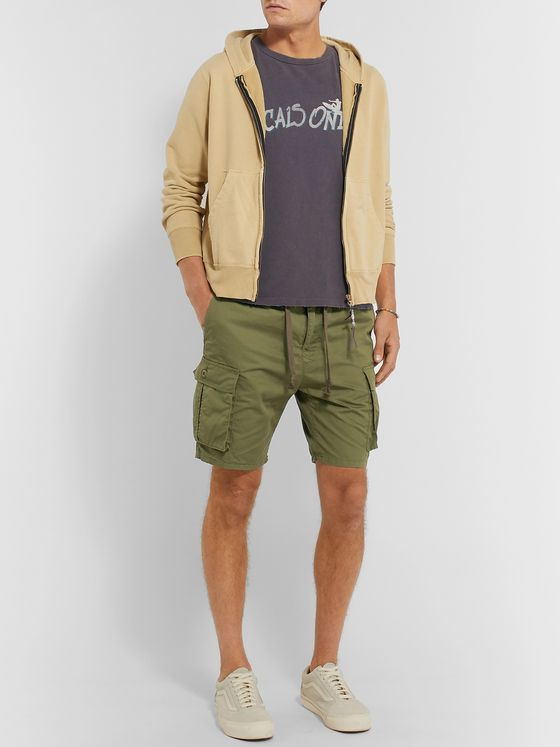 Remi Relief Slim-Fit Cotton and Linen-Blend Cargo Shorts