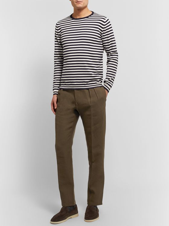 Anderson & Sheppard Striped Cotton Sweater