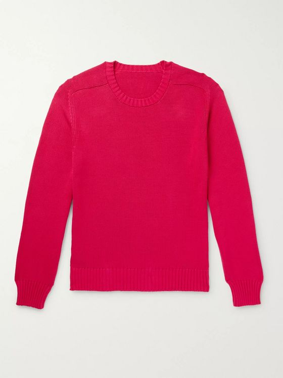 Anderson & Sheppard Slim-Fit Cotton Sweater