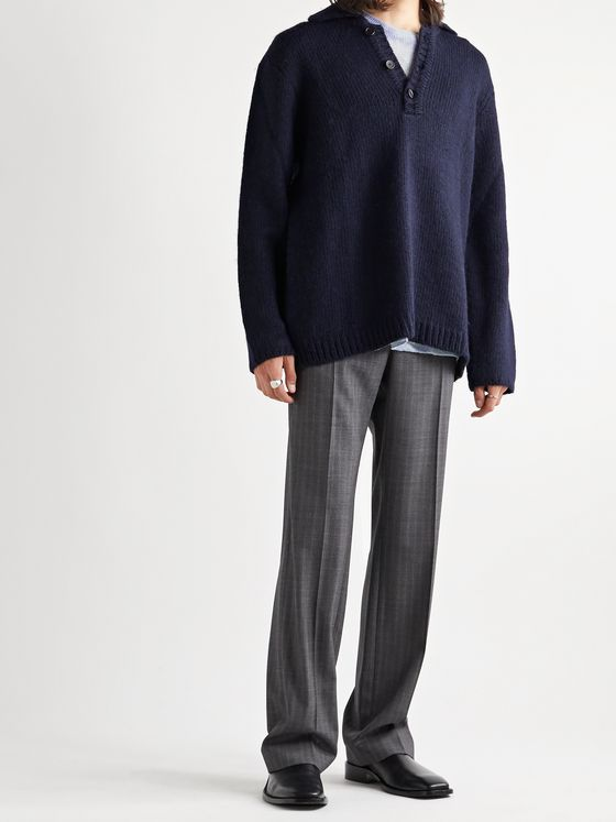 Our Legacy Brushed Knitted Half-Placket Sweater