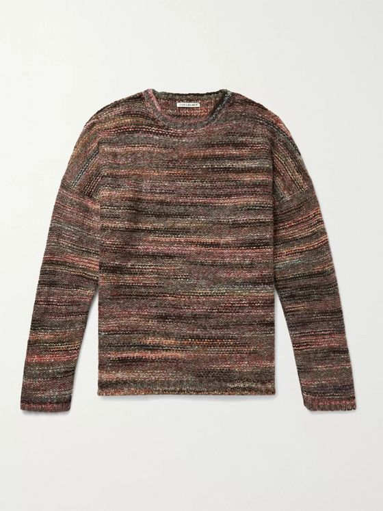 Our Legacy Striped Mélange Knitted Sweater
