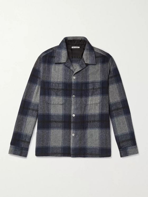 Our Legacy Heusen Checked Brushed-Flannel Overshirt