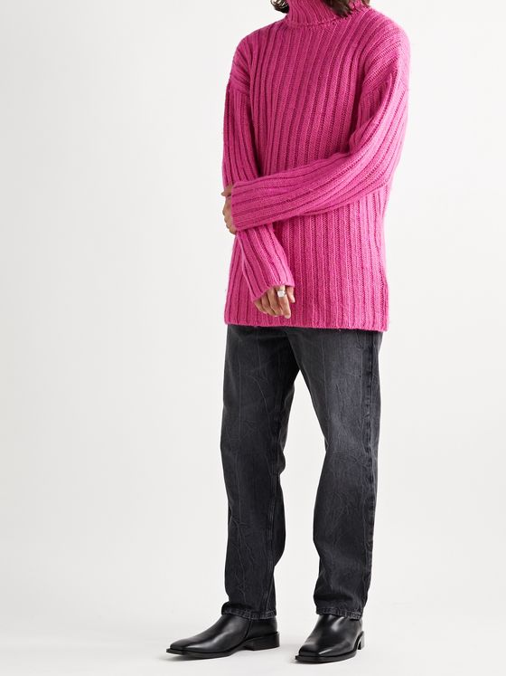 Our Legacy Brushed Ribbed-Knit Rollneck Sweater