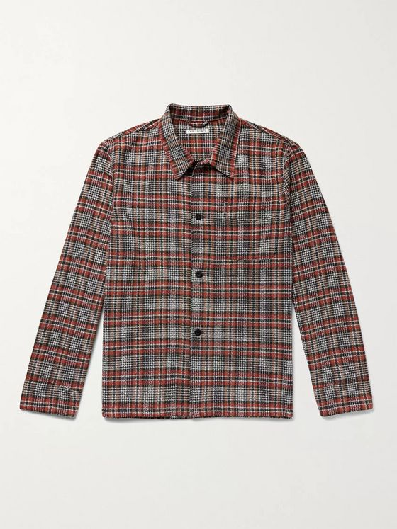 Our Legacy Checked Cotton-Blend Shirt Jacket