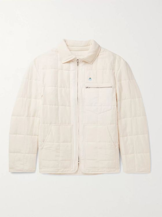 Story Mfg. Caravan Embroidered Quilted Organic Linen and Cotton-Blend Jacket