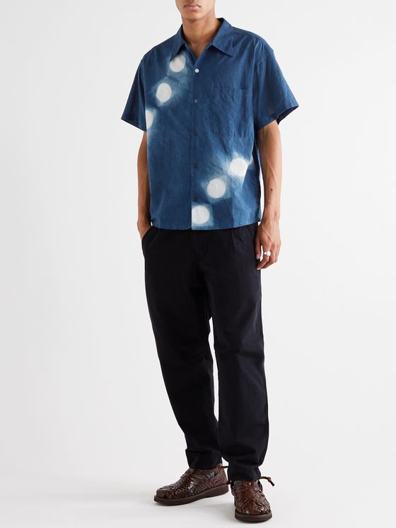 Story Mfg. Shore Printed Indigo-Dyed Organic Cotton Shirt