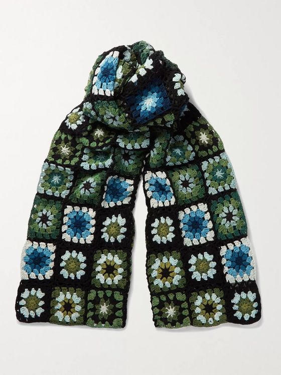 Story Mfg. Piece Crocheted Organic Cotton Scarf