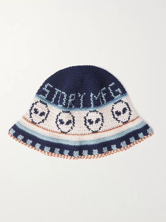 Story Mfg. Brew Crocheted Organic Cotton Bucket Hat