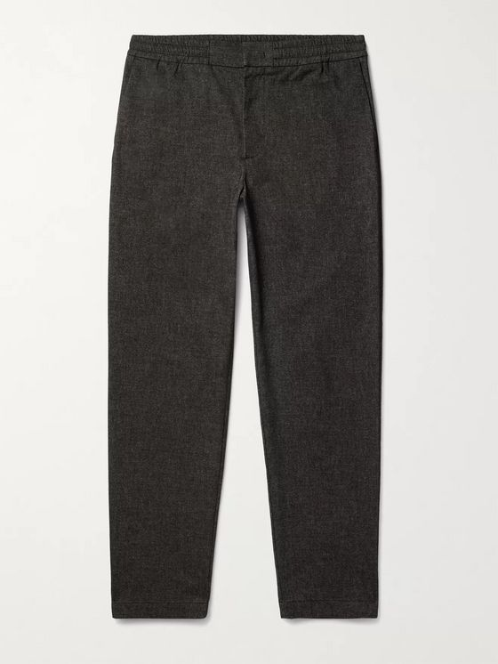 NN07 Foss Slim-Fit Tapered Flannel Trousers