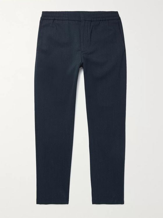 NN07 Foss Tapered Flannel Drawstring Trousers