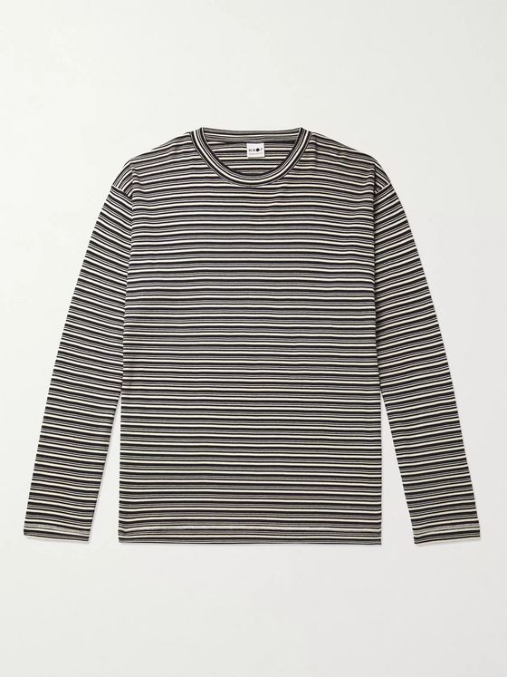 NN07 Kurt 3463 Striped Cotton and Modal-Blend T-Shirt