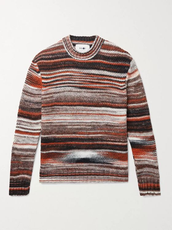 NN07 Jason Intarsia Striped Knitted Sweater
