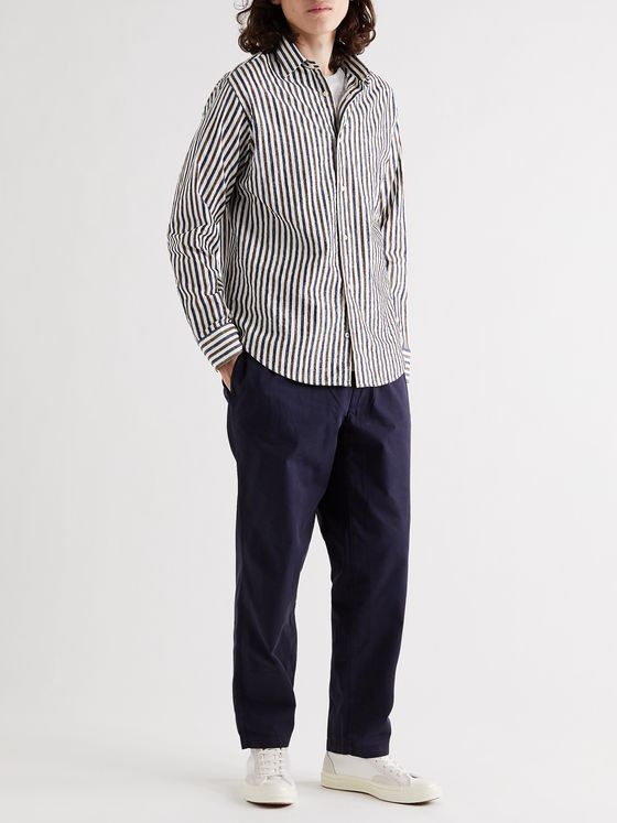 NN07 Errico Striped Cotton-Blend Shirt