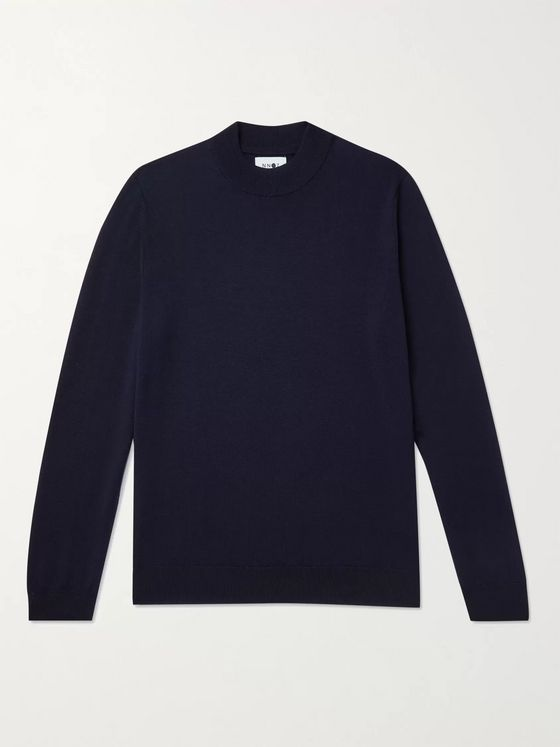 NN07 Martin 6328 Wool Mock-Neck Sweater