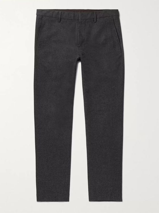 NN07 Cade Tapered Flannel Suit Trousers