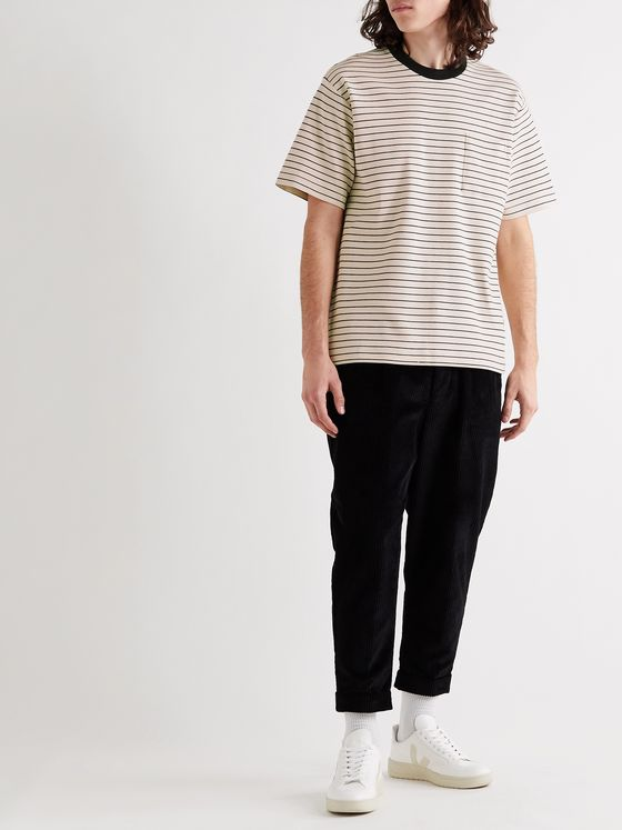 NN07 Jorah Striped Stretch-Cotton and Modal-Blend Jersey T-Shirt