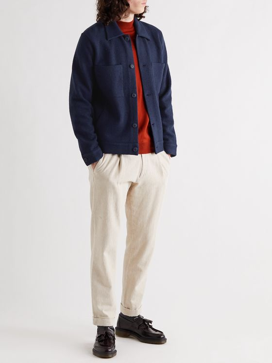 NN07 Alvin Boiled-Wool Overshirt