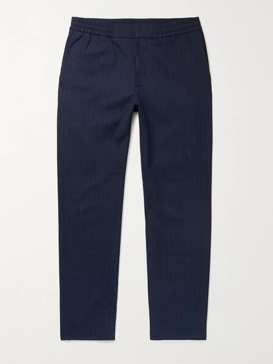 NN07 Foss Tapered Pinstriped Flannel Trousers