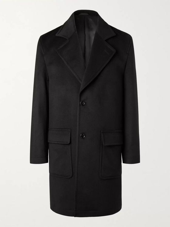 NN07 Fain Brushed Virgin Wool-Blend Overcoat