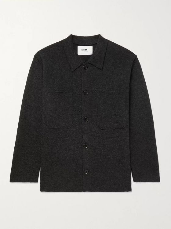 NN07 Jonas Brushed-Wool Overshirt