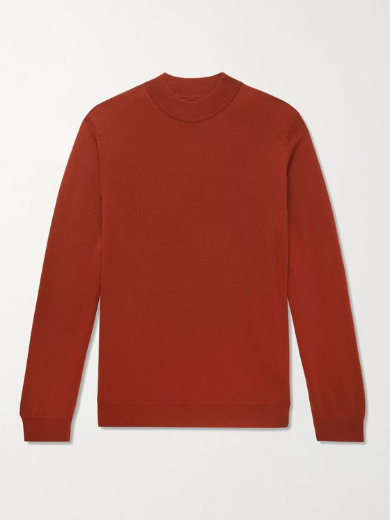 NN07 Martin Wool Mock-Neck Sweater