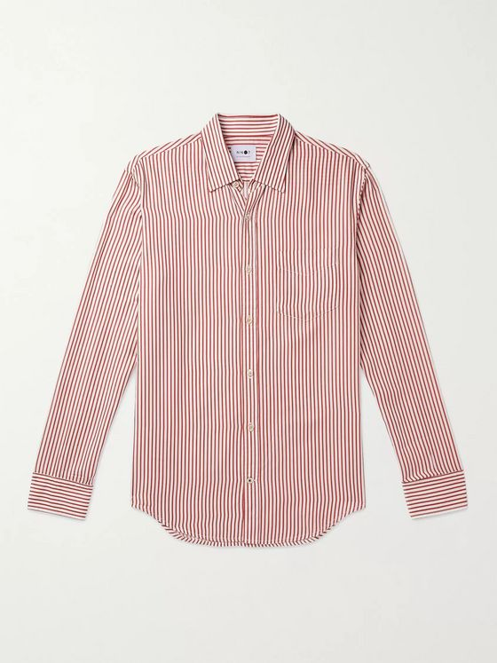 NN07 Deon Striped TENCEL Shirt