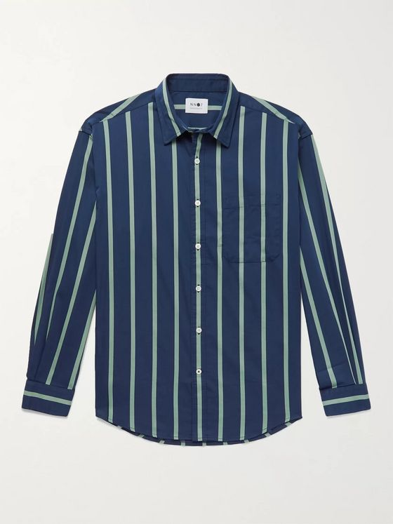 NN07 Deon Striped Stretch Cotton-Blend Shirt