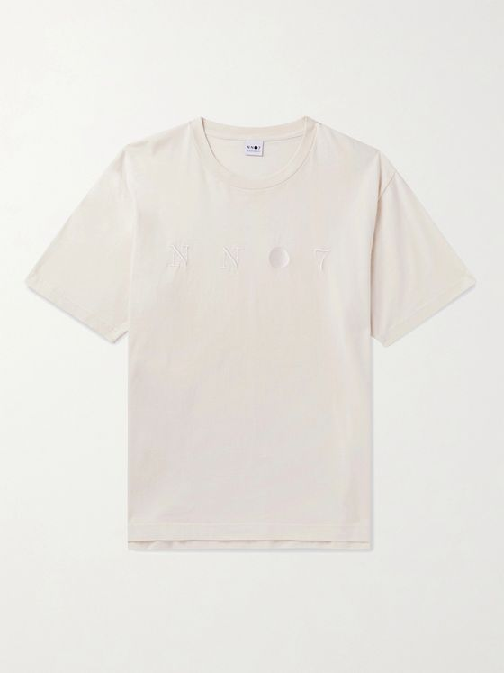 NN07 Dylan 3432 Logo-Embroidered Cotton-Jersey T-Shirt
